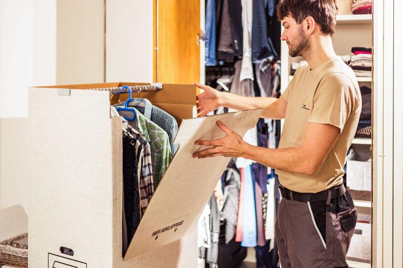 Verpackungsmaterial Verleih für Umzug